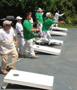 A&K Employee Team Building Cornhole Tournament