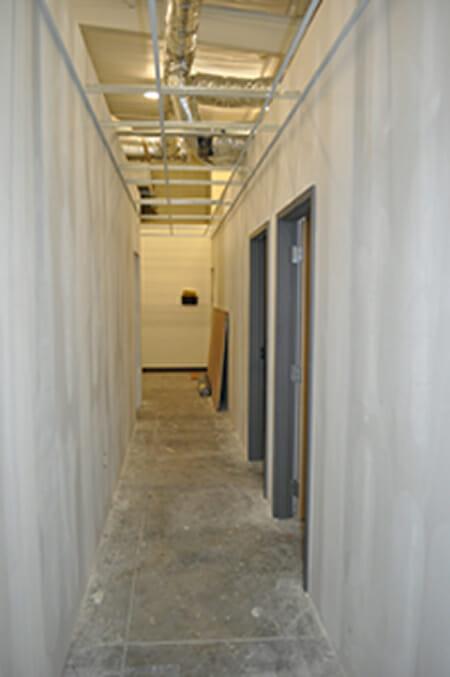 A&K Office Remodel Corridor