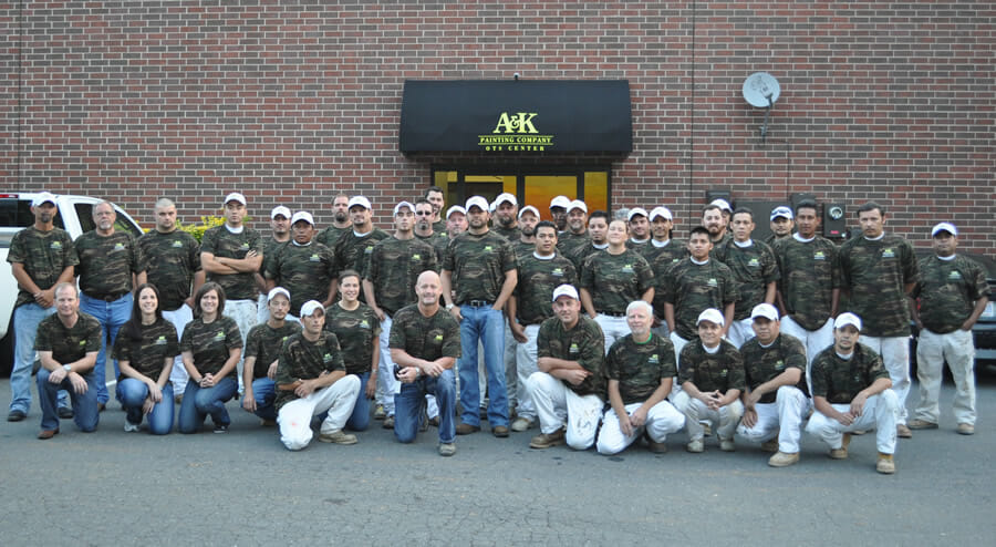 A&K Painting Team Members - Remember Those Who Paid the Price of Our Freedom Camouflage Shirts