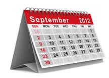 September 2012 Calendar Image