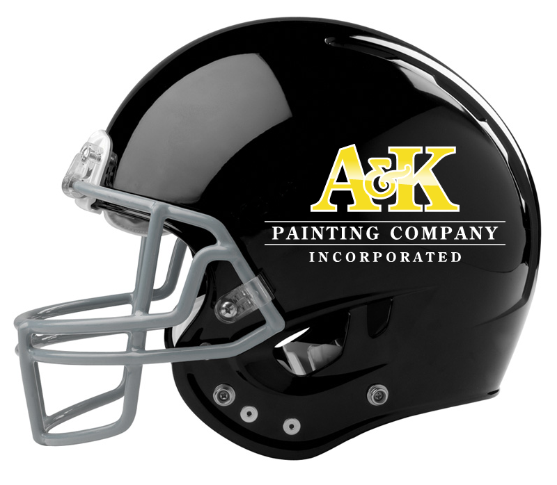Football Helmet Painting : Panthers vs saints home opener a k painting co