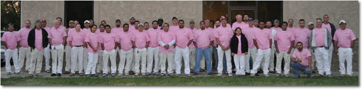 A&K Painting Co. Operation Pink Group Photo