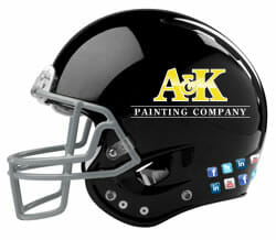 A&K Painting Company Football Helmet