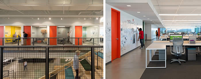 Photo of Evernote's Offices and their use of Dry Erase coatings on office and common area walls