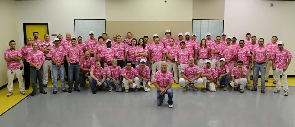 A&K Painting Operation Pink Group Photo