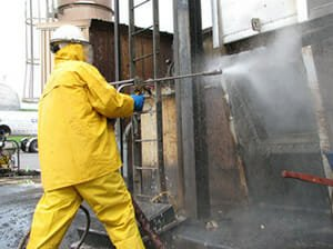 A&K Painting high pressure water blasting and cleaning