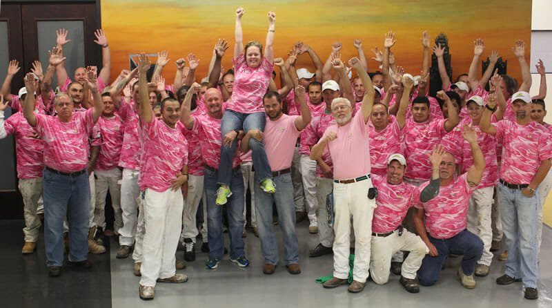 Breast Cancer Awareness with A&K Painting Company Operation Pink 2014