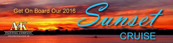 Get On Board Our 2016 Sunset Cruise