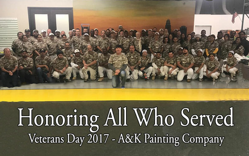 Thank you, Veterans from A&K Painting Company